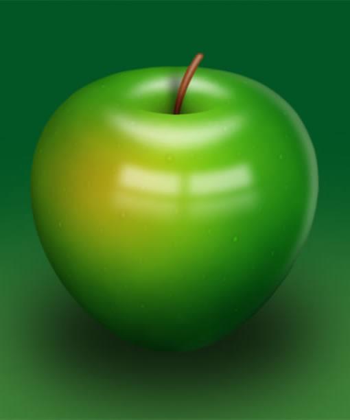 Photoshop教程:绘制大大的青苹果